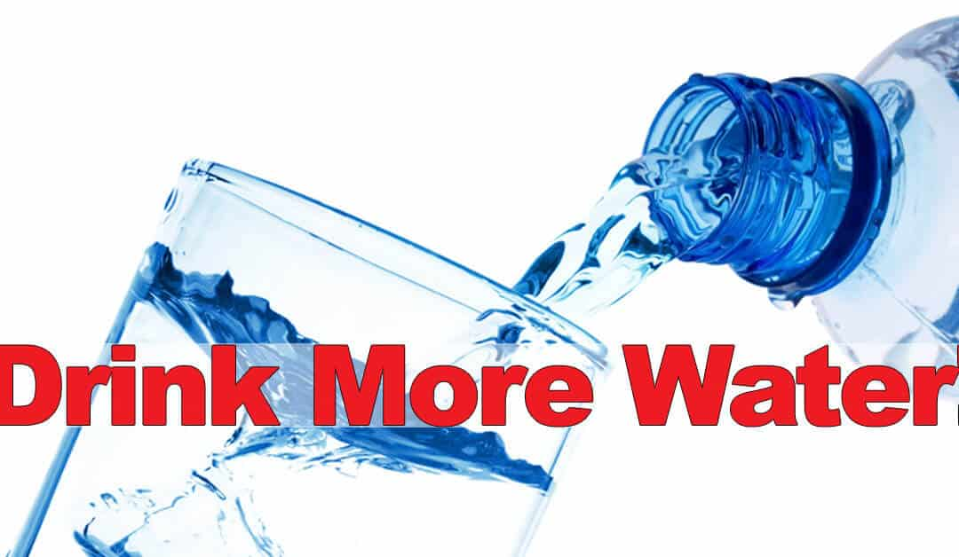 Put down the soda pop and drink more water!